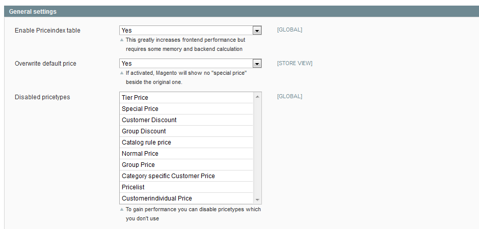 magento create price lists