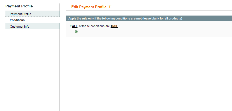 magento payment profile for customer and customer groups
